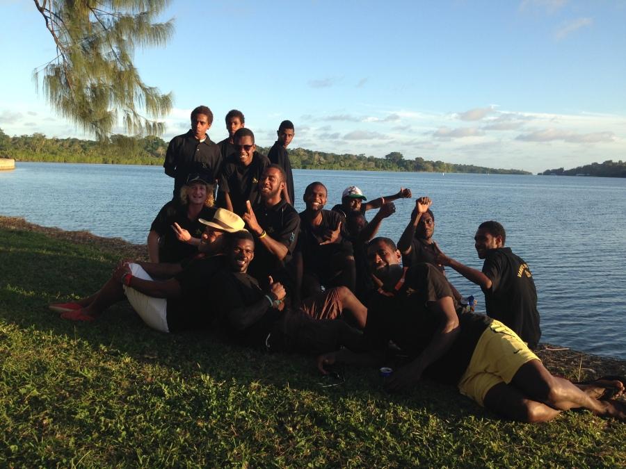 The boys from Port Vila Rowing Club
