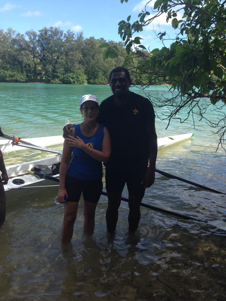 Kerry and Kemu rowed in the mIxed doubles