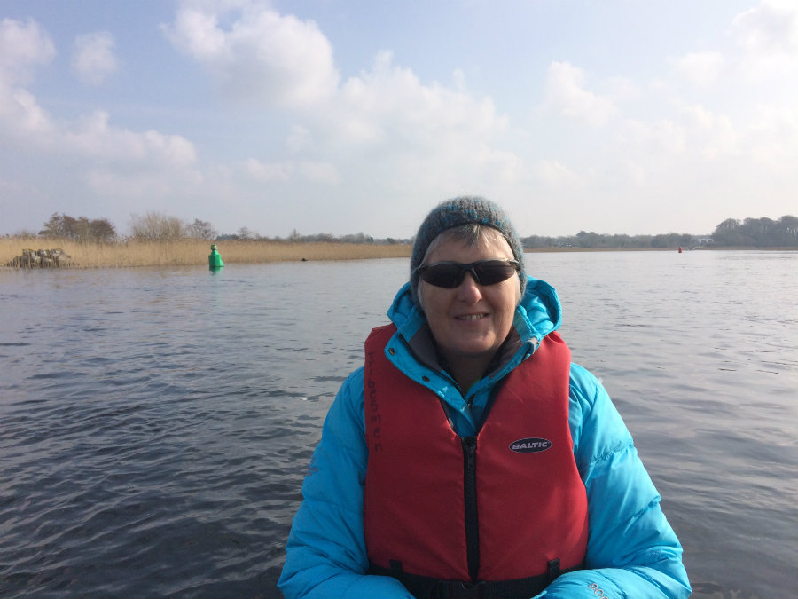 Gillian Carolan coxing recreational crew