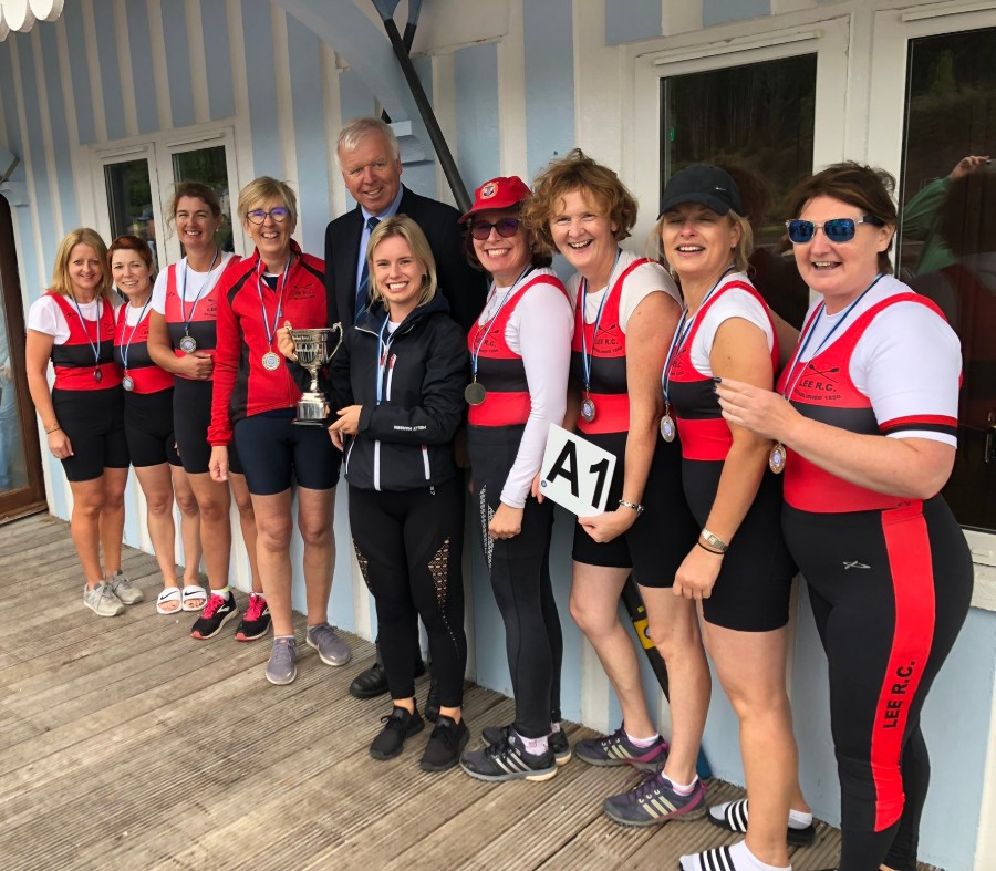 Lee Rowing Club - Noosa Rowing Club winners of the Women's Masters 8+ at Shandon Masters Regatta August 2019